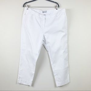 Gap slim cropped optic white pant 18 womens cotton